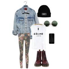 Fashion, Style, Dr. Martens, Oversized denim jacket, round glasses