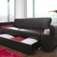 Fancy - Get style & practicality with our high quality fax leather look sofa bed with built in storage compartments. Sofa Set Designs, Sofa Design, Furniture Design, Furniture Ideas, Sofa Bed With Storage, Built In Storage, Online Furniture Stores, Furniture Shopping, Furniture Websites