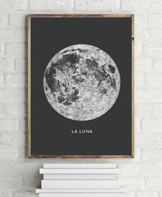 La Luna Moon Print Art Print by Ilkadesign - X-Small Dorm Room Art, Dorm Room Walls, Dorm Room Posters, Wall Posters, Bed Room, Bohemian Bedroom Decor, Bohemian Art, Print Moon, Solar System Art