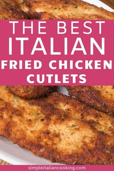 Try Easy Italian Fried Chicken Cutlets Recipe Italian-style! Enjoy these easy fried Italian Chicken Cutlets! An Italian dinner recipe that goes great with pasta, salad and fresh bread! Delicious chicken recipe anyone can make! Easy Chicken Cutlet Recipes, Cutlets Recipes, Italian Chicken Recipes, Italian Dinner Recipes, Easy Chicken Dinner Recipes, Best Italian Recipes, Fried Chicken Recipes, Easy Meals, Italian Chicken Cutlet Recipe