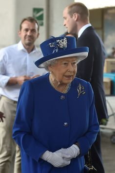 Queen Elizabeth II visits the scene of the Grenfell Tower fire on June 16, 2017 in London, England. 17 people have been confirmed dead and dozens still missing, after the 24 storey residential Grenfell Tower block in Latimer Road was engulfed in flames in the early hours of June 14.