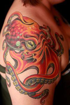 Lovely octopus tattoo