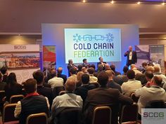 Gideon Hillman - SCCG Director, chairing one of the 'Future of Refrigerated Transport' conference sessions.