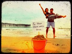 Awesome beach baby announcement!