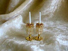 Dollhouse Doll House Miniature Fancy Candle Holder Candle Set | eBay