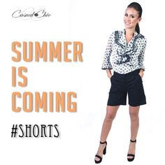 Start your week strong and beautiful with this cascade blouse and black shorts. Inbox us to buy them. #happymonday #fashion #onlineboutique #casualandchic #shorts