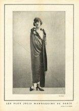 "Worth 1923 ""The Most Beautiful Mannequins of Paris"" Janine Fashion Model, Photo Rahma, Evening Cape"
