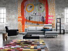 Love the pixel carpet and concrete. Inspira #BoConcept