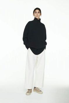 Studio Nicholson-Studio Nicholson Elson Turtleneck-black knit sweater-black turtleneck-oversized turtleneck sweater-Idun-st. paul