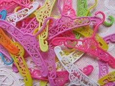 barbie hangers- takes me back to my childhood :) 90s Childhood, My Childhood Memories, Great Memories, Vintage Barbie, Vintage Toys, 80s Kids, Retro Toys, Barbie World, Old Toys
