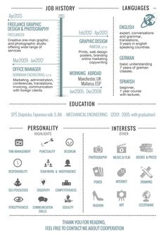 30+ Examples of Creative Graphic Design Resumes (Infographics)