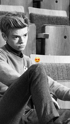 Imagine that your are really sad and Thomas, your best friend, looks at you like that. Your crying because your boyfriend broke up with you. He walks over to you and comforts you. He asks you to be his girlfriend and you say yes because he loves you so much.