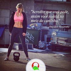 Nunca desista dos seus #objetivos! Você é o fator principal para a sua mudança. #dieta #treino #academia #foco #sarada #magra #vida #saudável #saúde