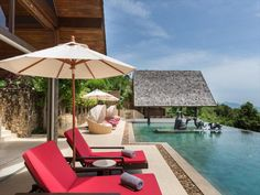 Koh Samui, Samui Thailand, Sun Umbrella, Luxury Villa Rentals, Luxury Accommodation, Guest Bedrooms, Luxurious Bedrooms, Relax, Patio