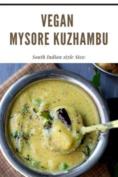 Mysore Kuzhambu is a delicious South Indian dal (lentil dish) that tastes absolutely amazing served with steamed rice and ghee. #cookshideout #southindian #vegan