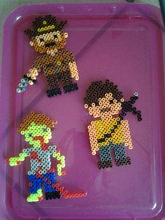 The Walking Dead characters hama perler beads by Marie Kli