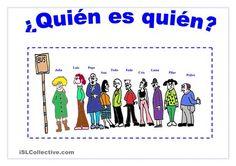 Actividad de práctica oral y escrita de la descripción física. - Trabajos ELE