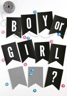 Boy or Girl? Gender Reveal Party Banner via @PagingSupermom
