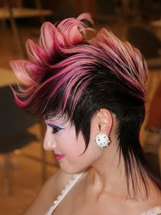 different punk hairstyles pink Short Punk Hairstyles for Women