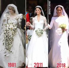Diana, Princess of Wales, Catherine, Duchess of Cambridge and Rachel, Duchess of Sussex