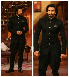 Looks I love: Ranveer Singh in Sabyasachi — The Purple Window Mens Indian Wear, Indian Groom Wear, Indian Men Fashion, Indian Man, Men's Fashion, Indian Ethnic, Star Fashion, Vintage Wedding Suits, Wedding Dresses Men Indian