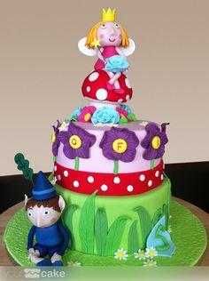 Tarta Ben y Holly fondant cake www.yourcake.es