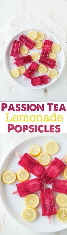 Passion Tea Lemonade Popsicles - everyone's favorite Starbucks drink made into popsicles!