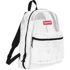 Think backpacks are hassle? Make this white mesh bag by Supreme part of your outfit. Mesh Backpack, White Backpack, Backpack Bags, Tote Bag, Supreme Backpack, Supreme Bag, Types Of Purses, Types Of Handbags, Bape