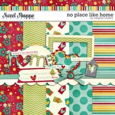 No Place Like Home is a digital mini kit from Meghan Mullens