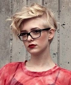 Undercut Hairstyles for Women Wearing Glass