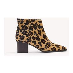 Twist & Tango Lissabon Low Boots (675 TND) ❤ liked on Polyvore featuring shoes, boots, ankle booties, leopard, leopard boots, zip ankle boots, pointed toe bootie, leopard print ankle boots and ankle boots