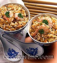 Arroz cantones                                                                                                                                                     Más Kitchen Recipes, Wine Recipes, Asian Recipes, Cooking Recipes, Ethnic Recipes, Fast Healthy Meals, Healthy Recipes, Delicious Recipes, Goody Recipe