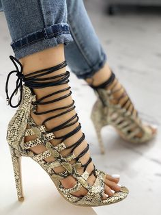 3f18276308f Shop Open Toed Lace-Up Thin Heeled Sandals right now