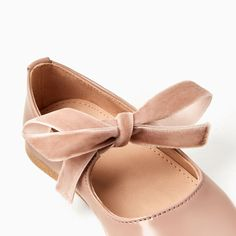 VELVET RIBBON BALLERINAS-SHOES AND BAGS-BABY GIRL | 3 months-3 years-KIDS | ZARA United States