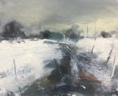 Landscape Paintings and photographs : Hannah Woodman Abstract Landscape Painting, Watercolor Landscape, Landscape Art, Landscape Paintings, Oil Paintings, Painting Snow, Winter Painting, Art Folder, My Art Studio