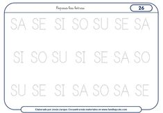 Fichas para escribir letras que podrás descargar e imprimir. Un paquete de más de 50 fichas dedicadas a las letras consonantes M, S, T,