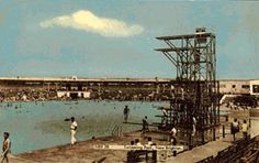 The diving boards at New Brighton baths