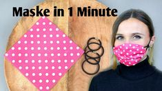 Maske für Mund & Nase in 1 Minute Facemask face mask diy Small Sewing Projects, Sewing Hacks, Sewing Crafts, Sewing Diy, Easy Face Masks, Diy Face Mask, Homemade Face Masks, Pocket Pattern, Diy Couture