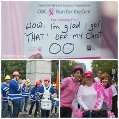 CIBC Run for the Cure - Toronto. One of my favourite dedications badges. Badges, Breast Cancer, Charity, Toronto, The Cure, Events, Running, My Favorite Things