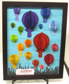 Scrapbooking & Rubberstamping Tutorials: Home Decor - Hot Air Balloon Wall Art