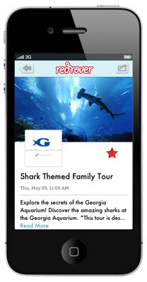 RedRover iOS app helps you find the coolest activities and events for your family right in your city. (And it's free!)