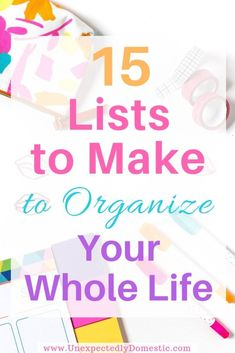 How to Organize Your Life With a Notebook: 15 Lists to Make to Stay On Track Which lists to make to organize your life in a notebook. These are fun lists to make when you're bored or feeling down or for fun. Deep Cleaning Tips, House Cleaning Tips, Cleaning Hacks, Cleaning Schedules, Flylady, Lists To Make, How To Make, Home Management Binder, Time Management