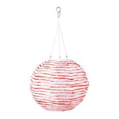 SOLVINDEN LED太陽電池式ペンダントランプ, 球形 レッド/ホワイト 球形 レッド/ホワイト 30 cm