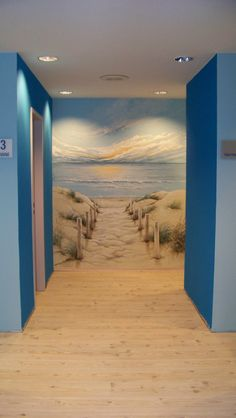 Trompe L'oeil Wandmalerei D. Holz