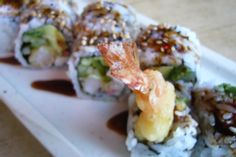 Crunchy Shrimp Roll  - Sushi  recently learned how to make sushi , looks like we'll have to try this :)