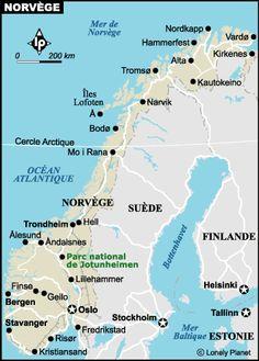 Carte norvege détaillée