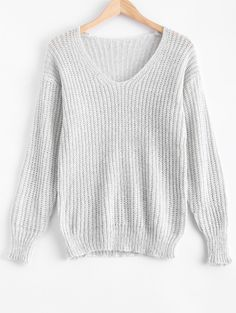 V Neck Oversized Sweater