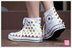 DIY: studded converse