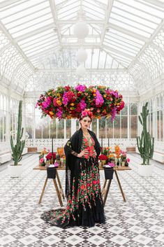 Inspired by Frida Kahlo colourful floral wedding editorial, dress by Joanne Fleming Design, photo by Roberta Facchini, venue Horniman Museum and Gardens, Floral design WildAbout colourfulwedding Fern Wedding, Wedding Shoot, Floral Wedding, Wedding Looks, Bridal Looks, Photoshoot Inspiration, Wedding Inspiration, Wedding Ideas, Frida Kahlo Wedding
