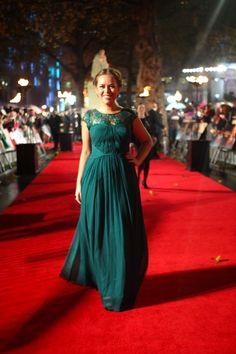 Tanya Burr @ Catching Fire premier - perfect dress.